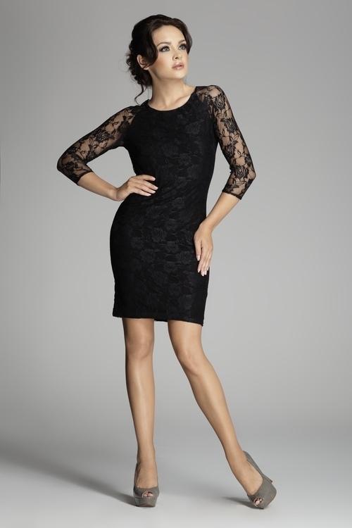 Dámske šaty M076 black