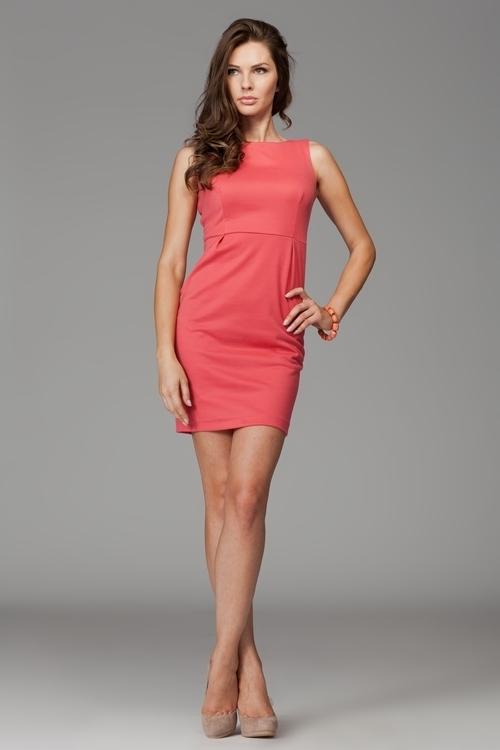 Dámske šaty M079 coral