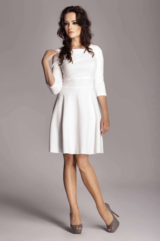Dámske šaty M081 ecru