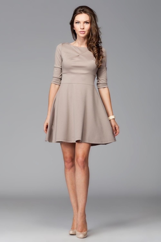 Dámske šaty M081 mocca