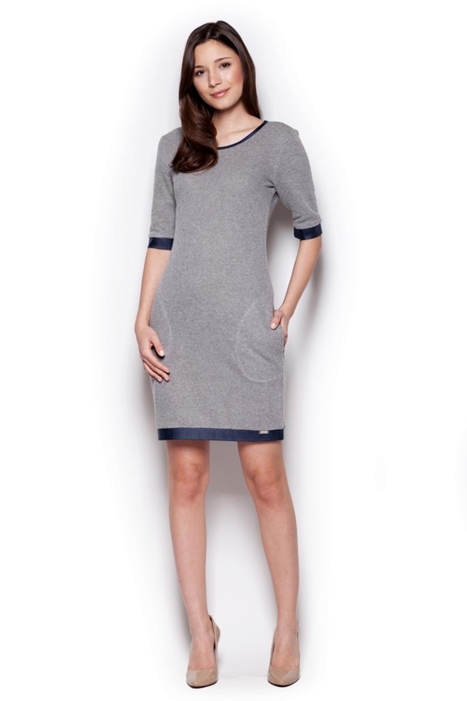 Dámske šaty M348 dark grey