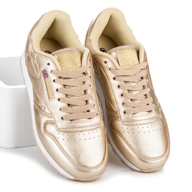 Dámske štýlové zlaté športové tenisky  1f2d863fedf