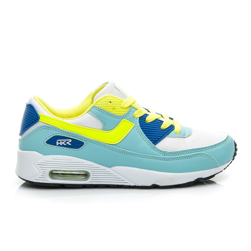 Štýlové a pohodlné dámske tenisky - modro-žlté