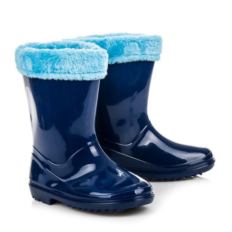 509ae20ce5fbf Detské modré teplé čižmy lemované kožušinkou | AMIATEX.sk