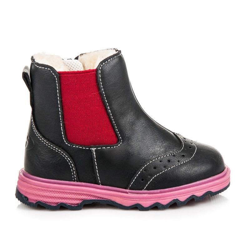 765becf4ffe9 Detské zimné čierne členkové topánky s elastickými vsadkami