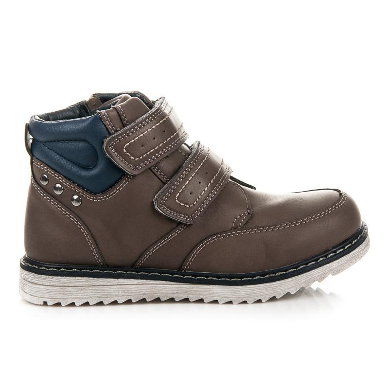 5f4903affed3f Detské zimné hnedé členkové topánky na suchý zips | AMIATEX.sk