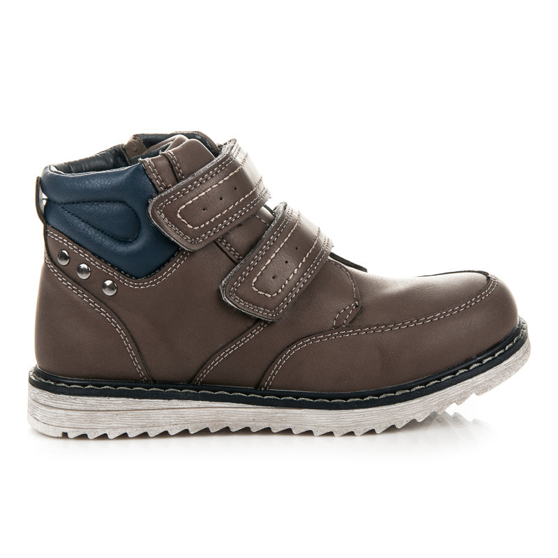 eedc9b177 Detské zimné hnedé členkové topánky na suchý zips | AMIATEX.sk