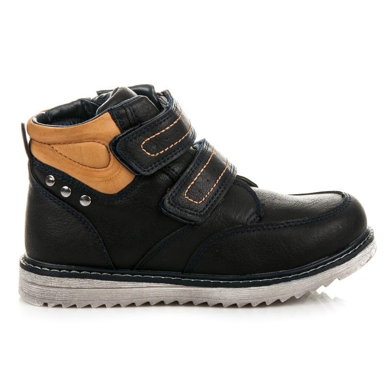 c8d391338056e Detské zimné modré členkové topánky na suchý zips | AMIATEX.sk