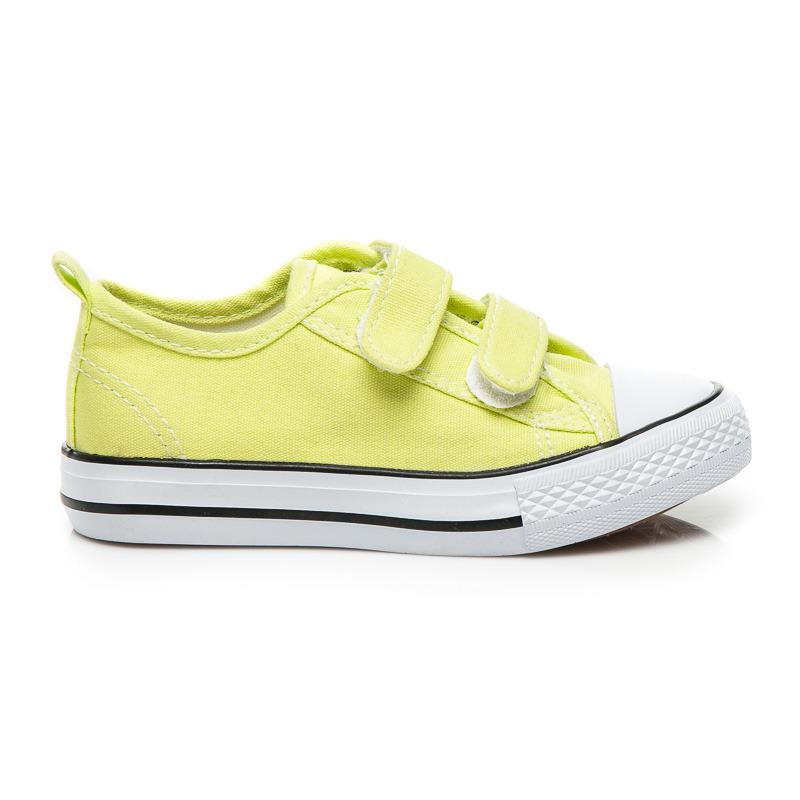 Detské žlté športové tenisky s zapínaním na suchý zips  ff42d116a7b
