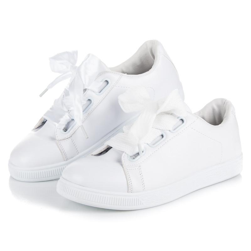 03389742494a1 Dokonalé biele tenisky viazané stužkou | AMIATEX.sk