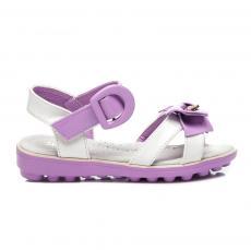 0ebfe8ec3ebd Dokonalé fialové detské sandálky s mašľou