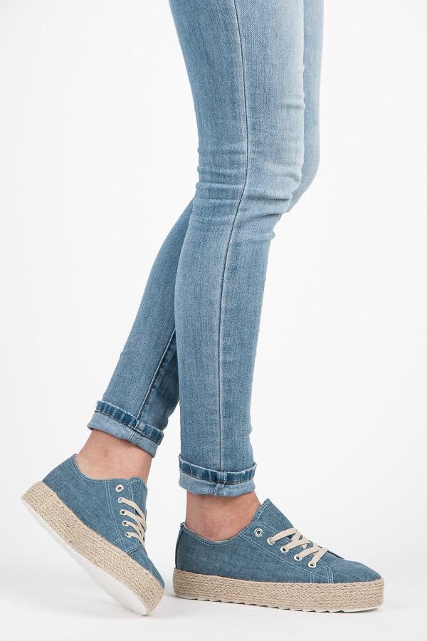 01c2a0c3df Džínsové modré tenisky na platforme