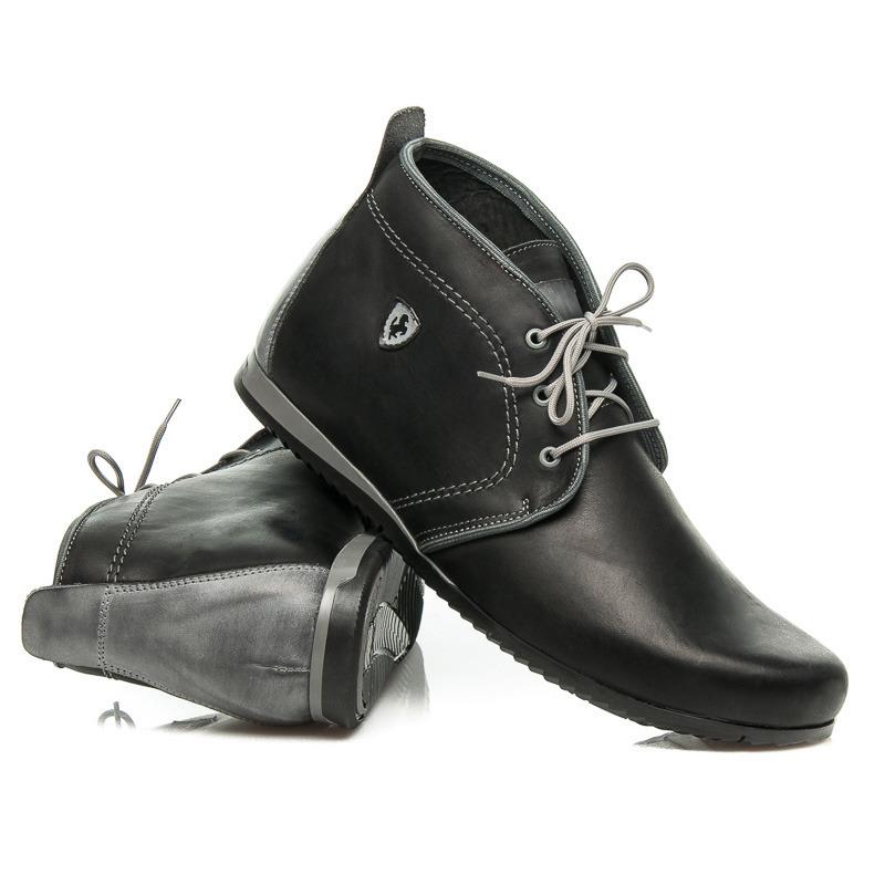 6ecac89eb9e3 Elegantné čierne pánske kožené členkové topánky