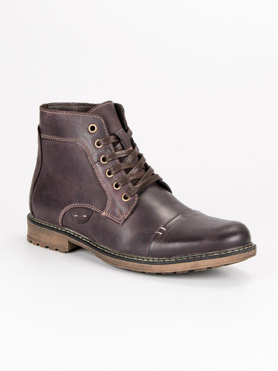 Elegantné hnedé pánske kožené topánky d6506af4382