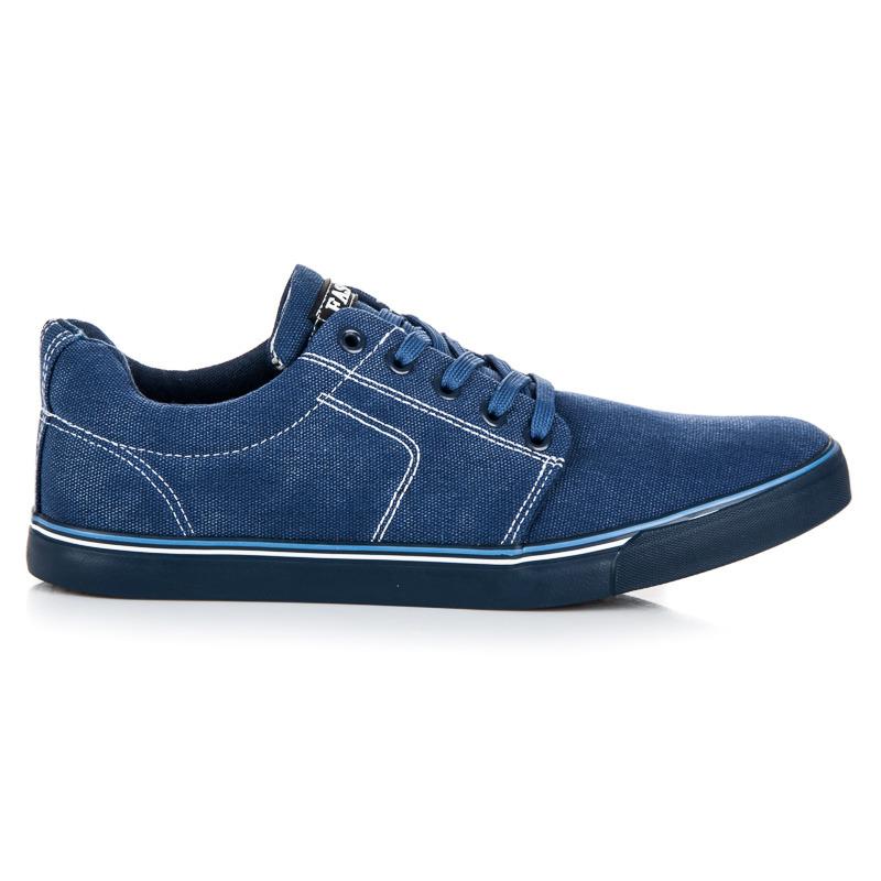 50c94f9751a9 Elegantné modré pánske tenisky so šnurovaním
