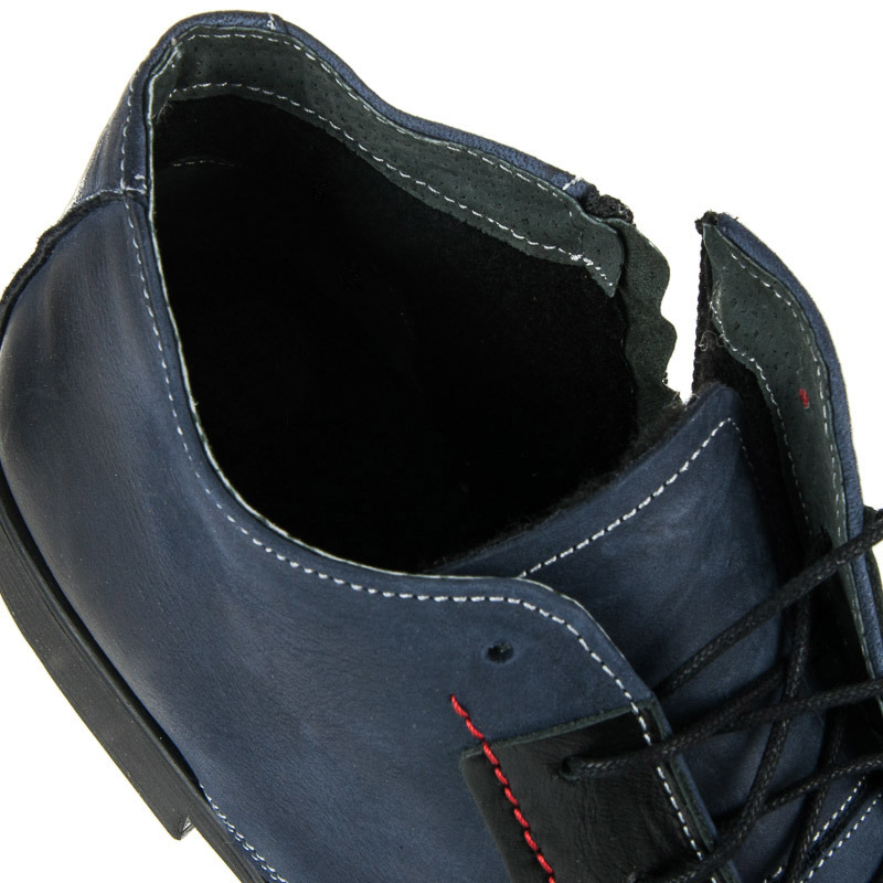 54b75b0f887f Elegantné modré pánske zateplené členkové topánky