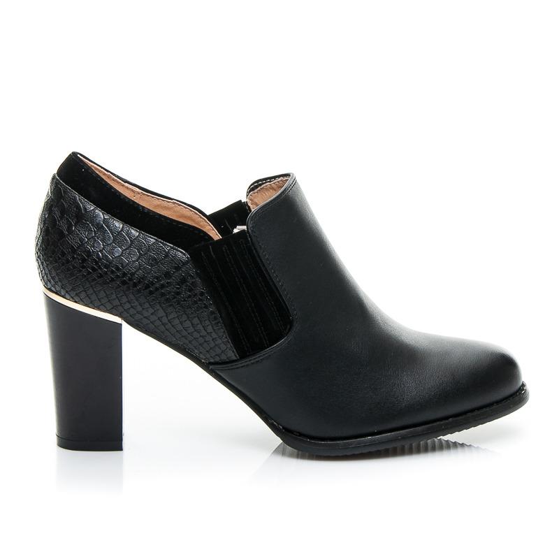 Fantastické čierne dámske členkové topánočky