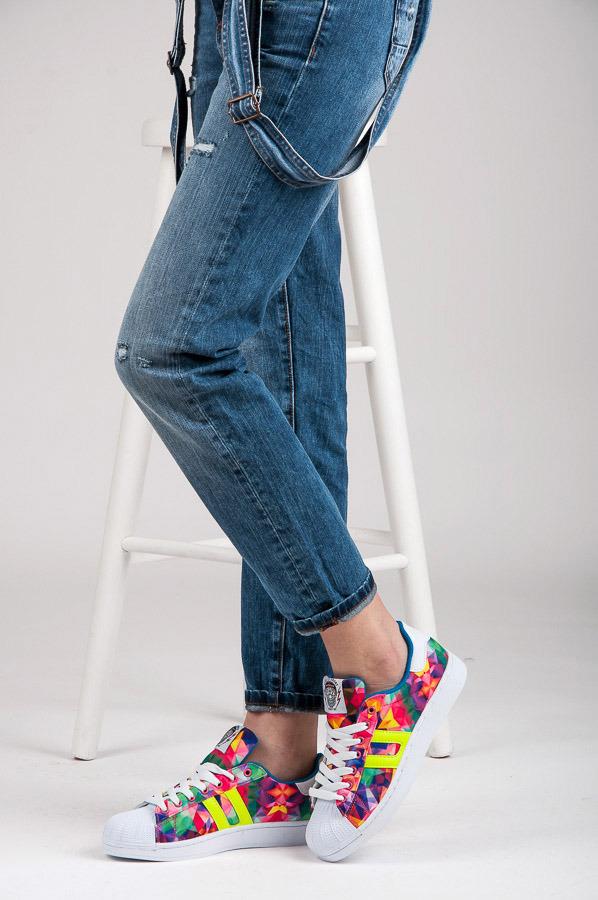 Farebné dámske tenisky - s vzorom  f81ea9de425