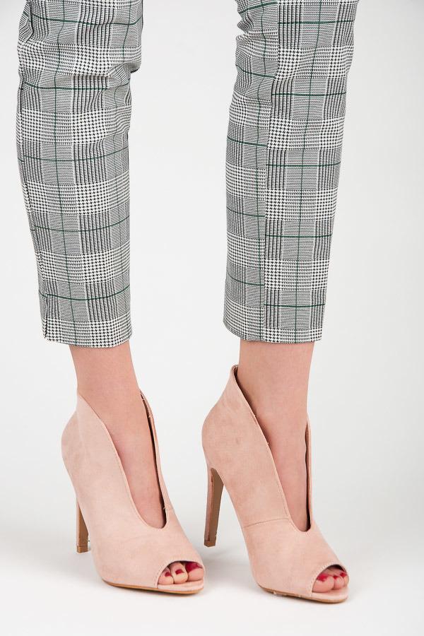 ed501b4b67b4 Jarné ružové semišové členkové topánky