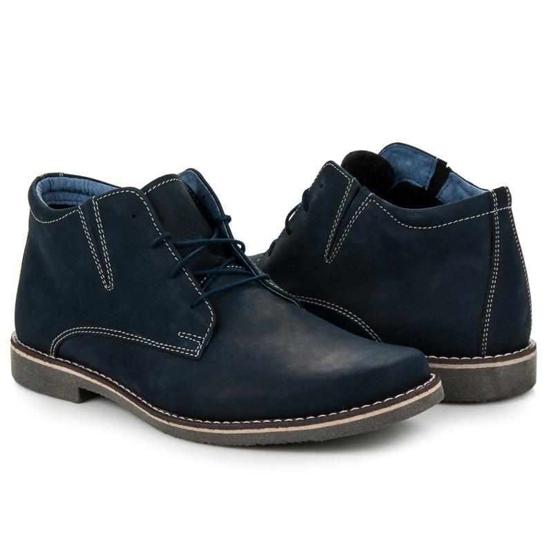 a41f172357 Jedinečné modré pánske členkové topánky na šnurovanie