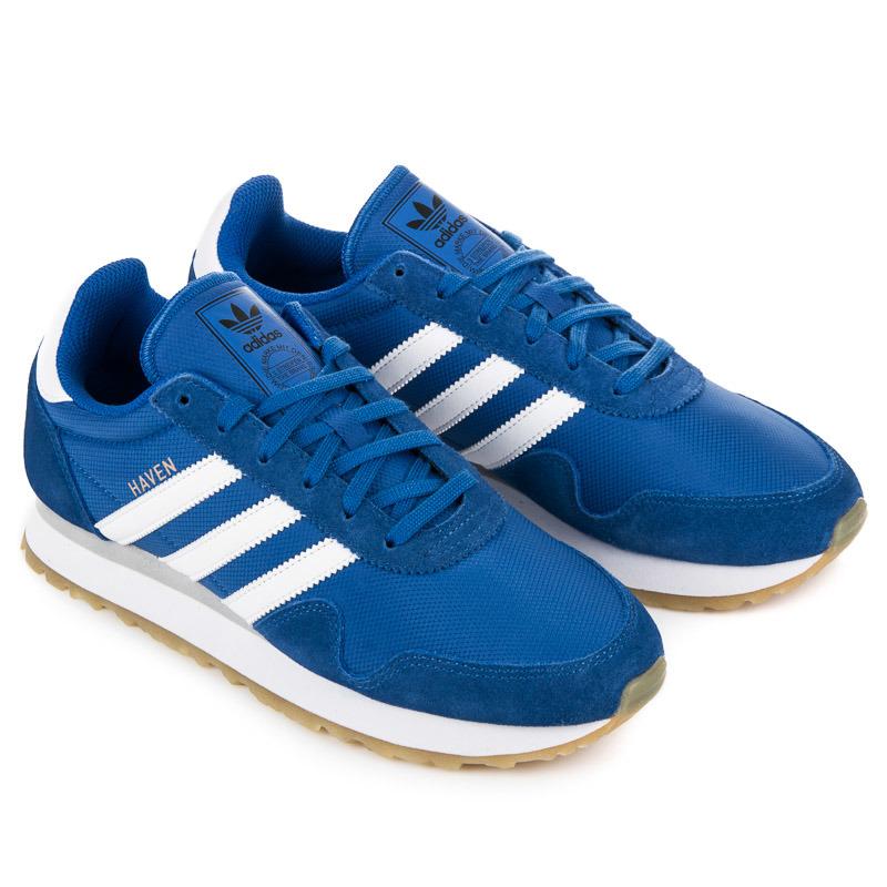 Jednoduché modré pánske tenisky Adidas Haven  663383b66bb