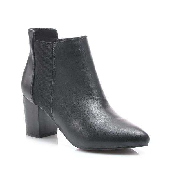 Jesenné čierne členkové topánky