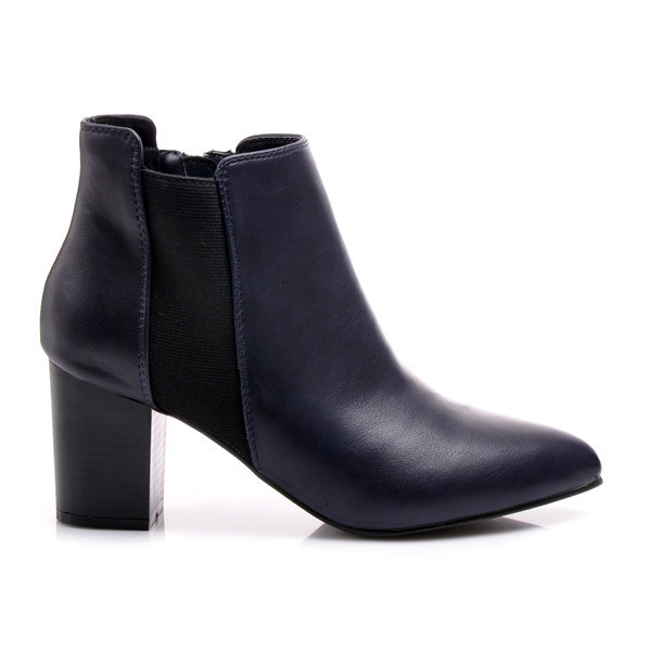 Jesenné modré členkové topánky