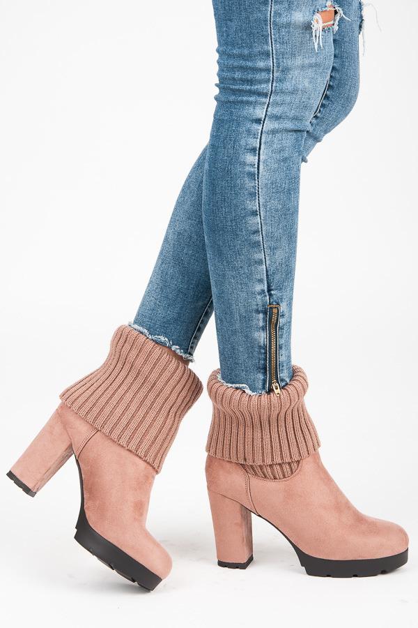 fc790cf7b1 Jesenné ružové členkové topánky s elastickým lemom