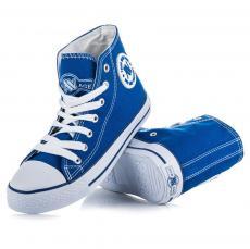 Klasické modré šnurovacie členkové tenisky ab52d666431
