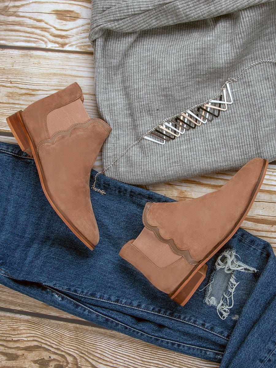 Kožené pudrové členkové topánky