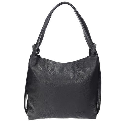 77d7bf9b3 Krásna čierna kožená kabelka cez rameno | AMIATEX.sk