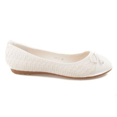 c73d64337 Krásne a unikátne biele dámske balerínky | AMIATEX.sk