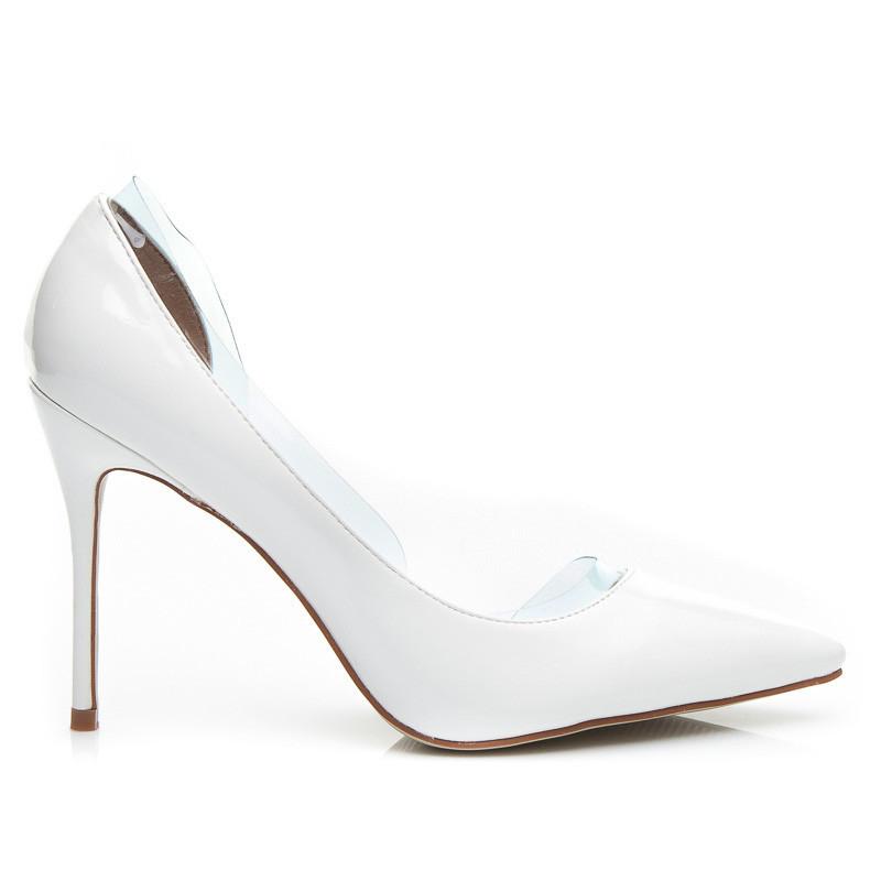 aa84ee949665 Krásne dámske biele lodičky
