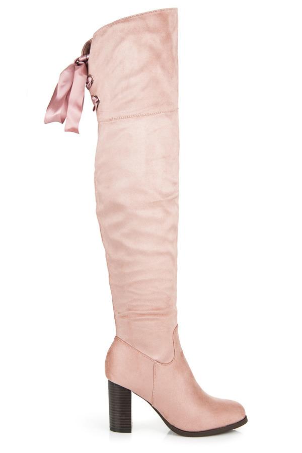 f97e9feaf871d Krásne ružové čižmy s mašľou | AMIATEX.sk