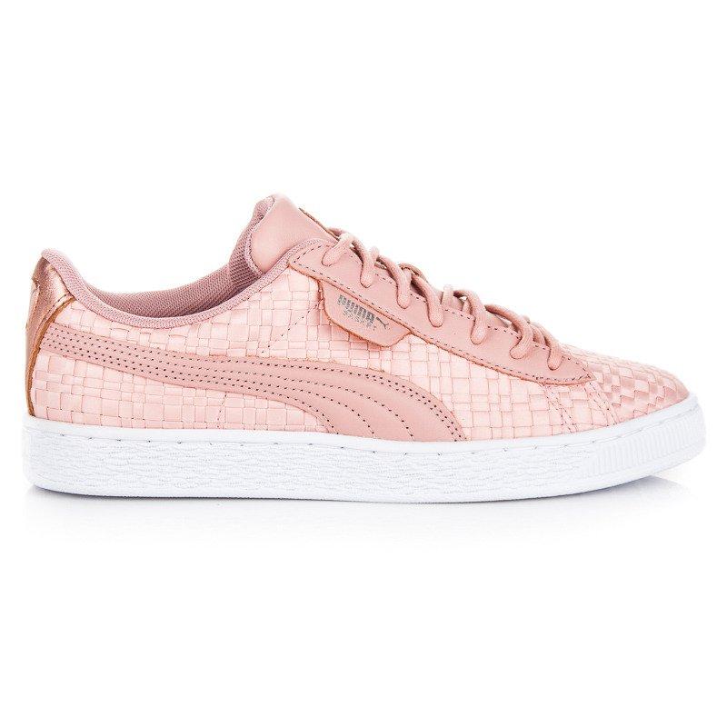 Krásne ružové textilné tenisky so vzorom zn.Puma