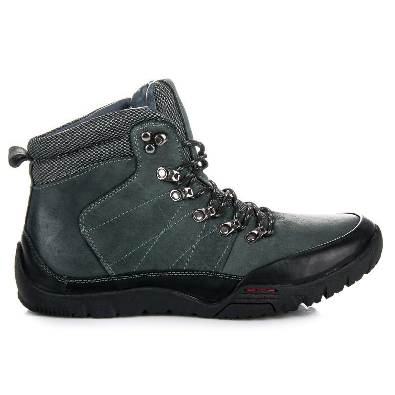 Kvalitné modré pánske trekové topánky  bda06912b36