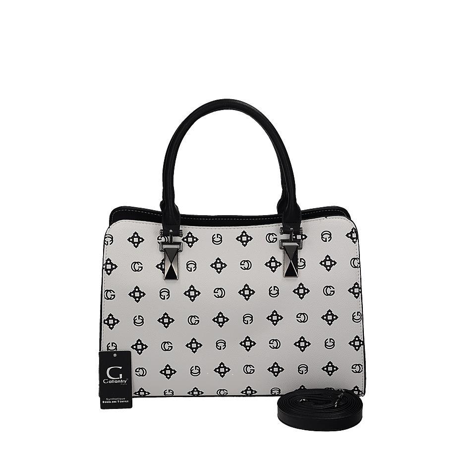 e99a41e3856a0 Luxusná biela kožená kabelka s efektnou potlačou   AMIATEX.sk