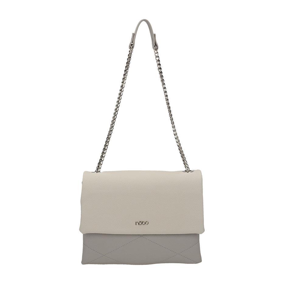 102f75a14271 Luxusná biela značková kabelka s retiazkou