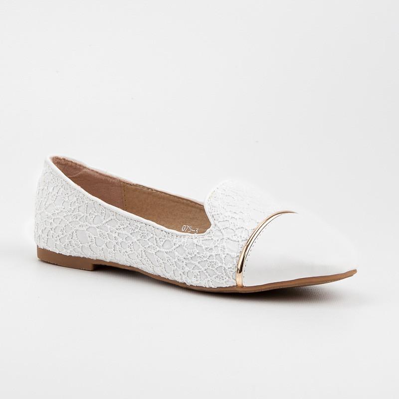 Luxusné biele čipkované lordsy