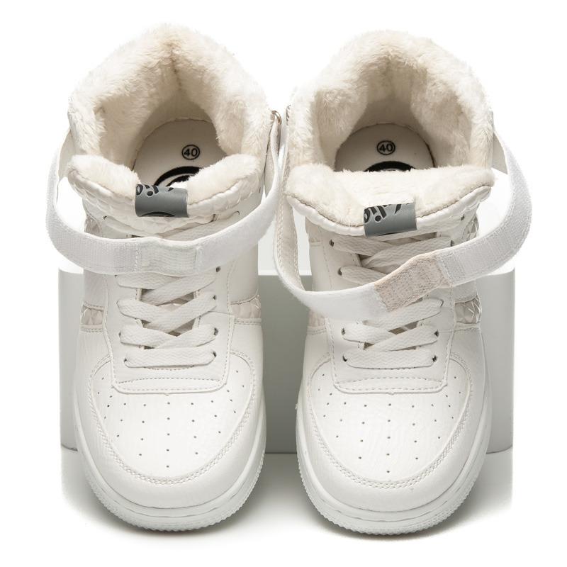 Luxusné biele členkové tenisky na suchý zips a šnurovanie  2393af19fff