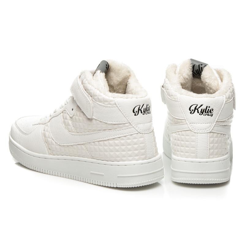 ... Luxusné biele členkové tenisky na suchý zips a šnurovanie ... ad509d5b5c5