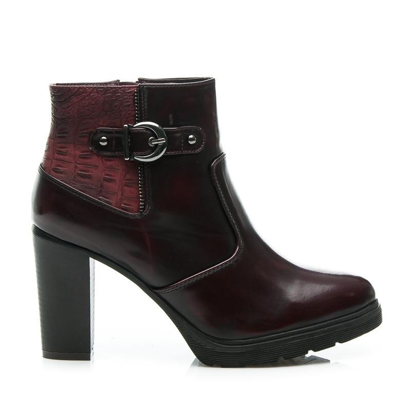 87651ec8bd6b Luxusné bordové dámske členkové topánky
