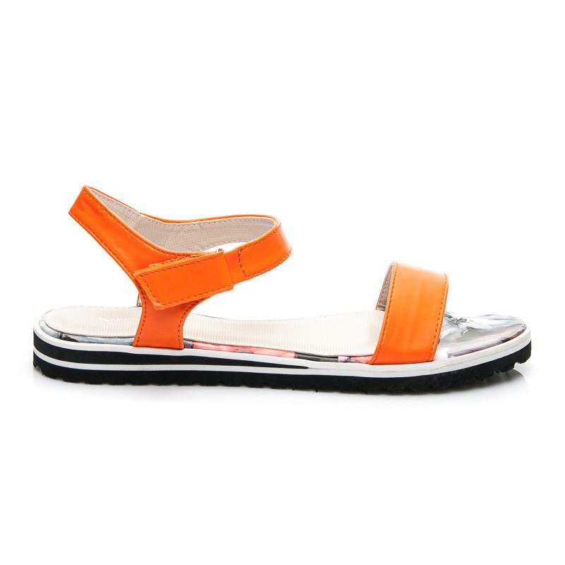 Luxusné dámske sandále - oranžové