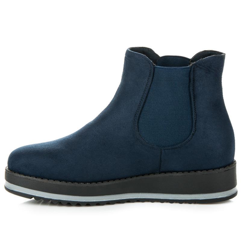 549eb85d86d1 ... Luxusné modré členkové topánky na platforme ...