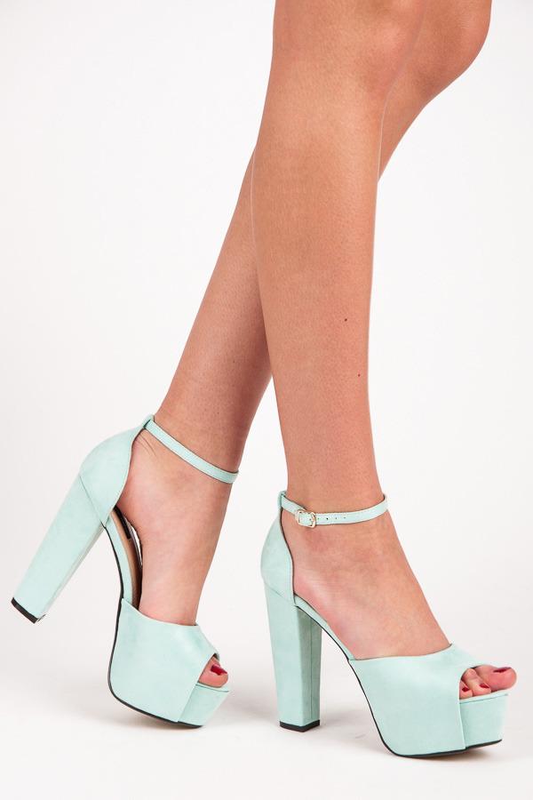 fffabfb71d4be Luxusné modré semišové sandále na platforme | AMIATEX.sk