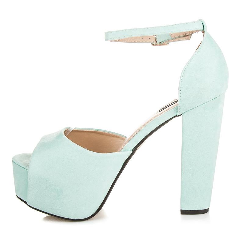 e95b84ebc8ff ... Luxusné modré semišové sandále na platforme ...