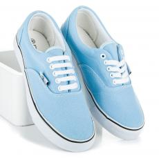 1b398db0d769 Luxusné modré tenisky s bielou podrážkou