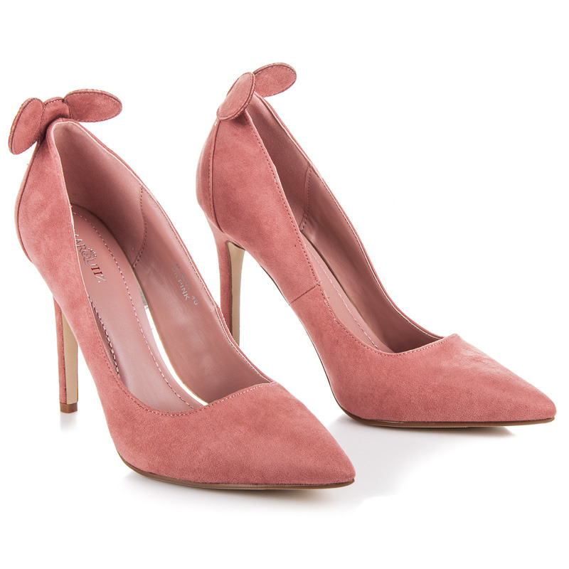 Luxusné ružové lodičky s uškami d22faae059