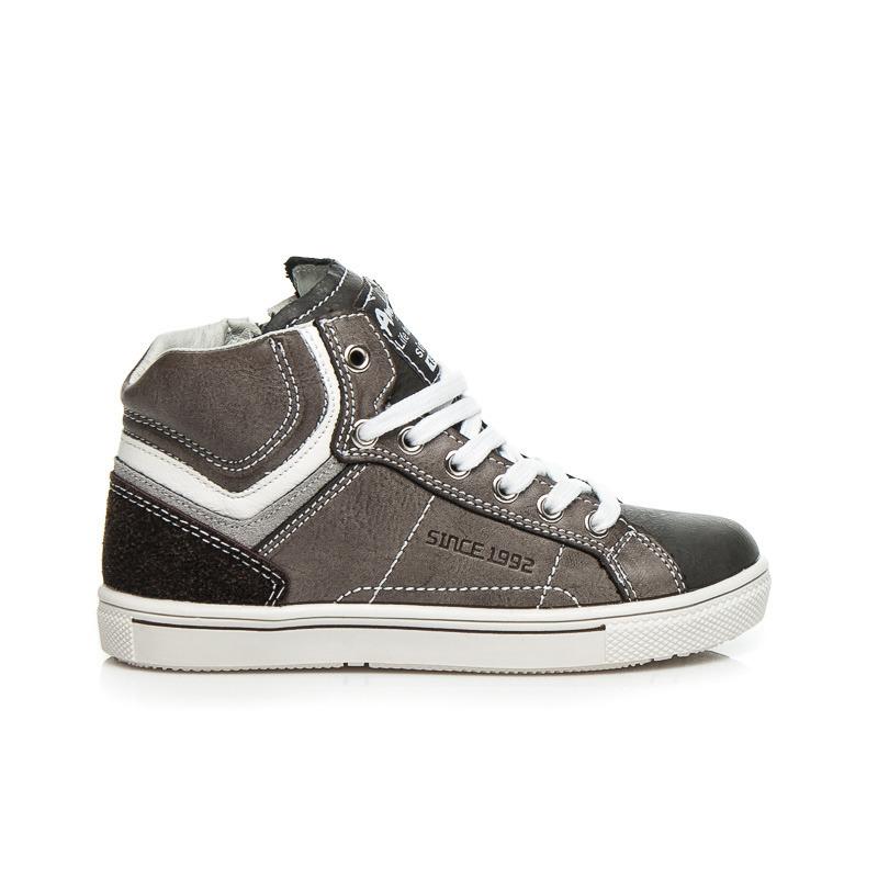Luxusné tmavo šedé dámske tenisky  3420fdbcc96