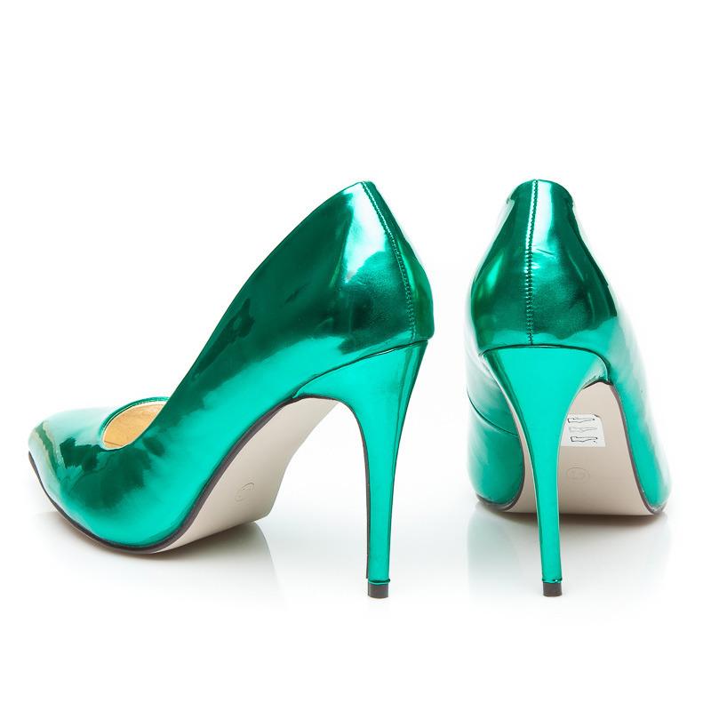 8744f6f22eb2 ... Metalické dámske lodičky - zelené ...